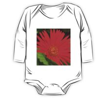 red flower  One Piece - Long Sleeve