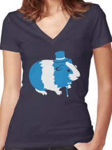 Sir Guinea Pig (Sir Critter) Women's Fitted V-Neck T-Shirt