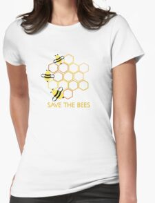 Save the Bees 2 Womens Fitted T-Shirt