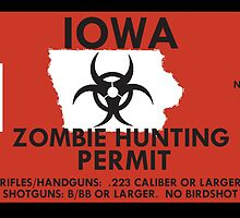 Zombie Hunting Permit - IOWA by SMALLBRUSHES
