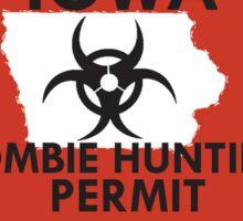 Zombie Hunting Permit - IOWA Sticker