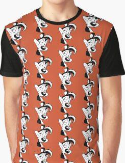Smirking Pepe Le Pew Graphic T-Shirt