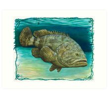 Goliath Grouper ~ Watercolor Art Print