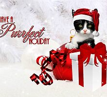 Red and White Christmas Kitty by Doreen Erhardt