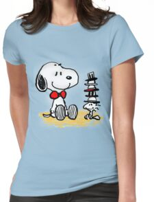 Snoopy New Friend Womens Fitted T-Shirt