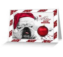 Bulldog Christmas  Greeting Card