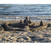 Providence Bay Sandcastle Photographic Print