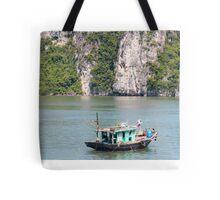 Fishing Boat Halong Bay Vietnam Tote Bag