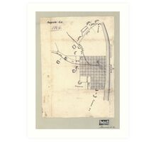 Civil War Maps 0083 Augusta Ga 1864 Art Print
