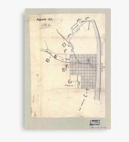 Civil War Maps 0083 Augusta Ga 1864 Metal Print