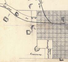 Civil War Maps 0083 Augusta Ga 1864 Sticker