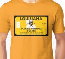 Zombie Hunting Permit - LOUISIANA Unisex T-Shirt