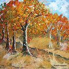Mopaneveld in autumn by Elizabeth Kendall
