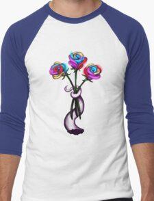 Rainbow Roses Men's Baseball ¾ T-Shirt