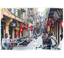 Hanoi Old Quarter Vietnam Poster