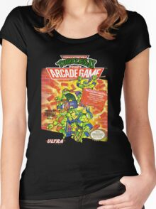 TMNT II: The Arcade Game Women's Fitted Scoop T-Shirt