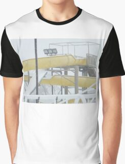 Snow and Ice on Water Park Slide Graphic T-Shirt