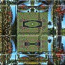 Palm Fruit Grid Cut Duvet by GolemAura