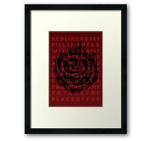 Ruby Rose Print Framed Print