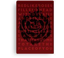 Ruby Rose Print Canvas Print