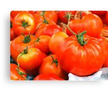 Big Red Tomatoes Canvas Print