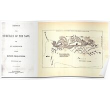 Civil War Maps 0092 Batteries at Grand Gulf captured by the United States Mississippi Squadron May 3 1863 Poster