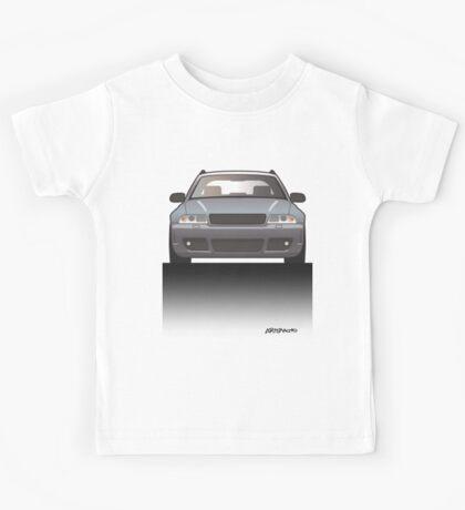 Modern Euro Icons Car Series Four Rings Rs4 A4 Avant Quattro B5 Kids Tee