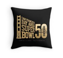 Super Bowl 50 III Throw Pillow