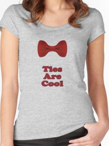 Bow Ties Are Cool T-Shirt - Hipster Tie Sticker Small - TV Quote  Classic Women's Fitted Scoop T-Shirt
