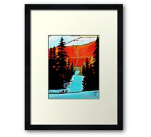 """Mountain Snow Trail"" acrylic painting Framed Print"
