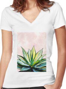 Botanical Art V2 #redbubble #home #style #fashion #tech Women's Fitted V-Neck T-Shirt