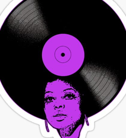 Afrovinyl (Purple) Sticker