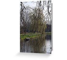 Spring by the canal Greeting Card