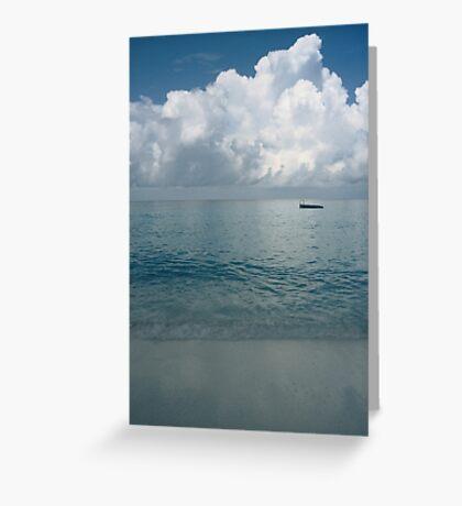 Tropical beach (Curaçao) Greeting Card