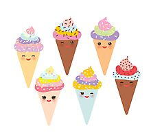 Kawaii Ice cream Photographic Print