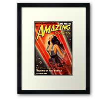Cover of Amazing Stories, July 1950 (PD) Framed Print