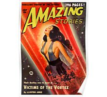 Cover of Amazing Stories, July 1950 (PD) Poster