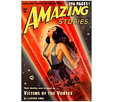 Cover of Amazing Stories, July 1950 (PD) Photographic Print