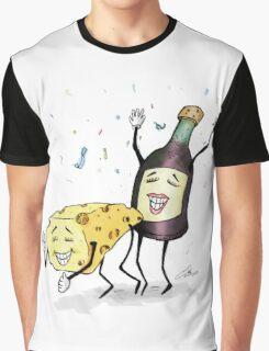 Cheese & Whine Party Graphic T-Shirt