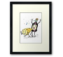 Cheese & Whine Party Framed Print