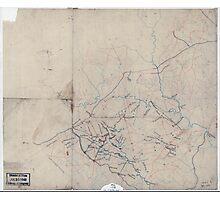 Civil War Maps 2052 Map of portions of Orange Louisa Spotsylvania and Culpeper counties Virginia Photographic Print