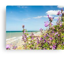 Purple, Blues & Greens of Arromanches Canvas Print