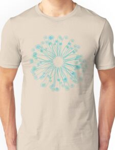 Fiddlehead Star in Blue-Green Unisex T-Shirt