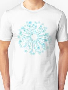 Fiddlehead Star in Blue-Green Unisex T-Shirt