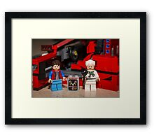 Flux Capacitor goes where? Framed Print