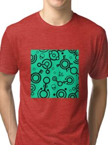 Crop Circles (Black and Green) Tri-blend T-Shirt