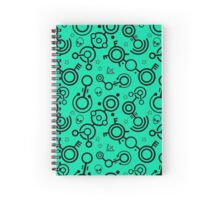 Crop Circles (Black and Green) Spiral Notebook