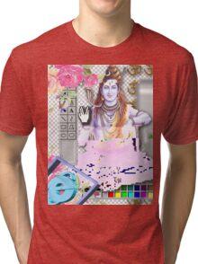 Vaporwave Seapunk - God bless the internet Tri-blend T-Shirt