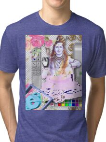 Vaporwave Seapunk - God bless the internet Tri-blend T-Shirt