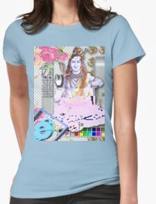 Vaporwave Seapunk - God bless the internet Womens Fitted T-Shirt